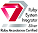 (株)エクステックはRuby Association Certified System Integrator Silverです。