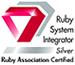 (株)エクステックはRuby Association Certified System Integrator Silverです。
